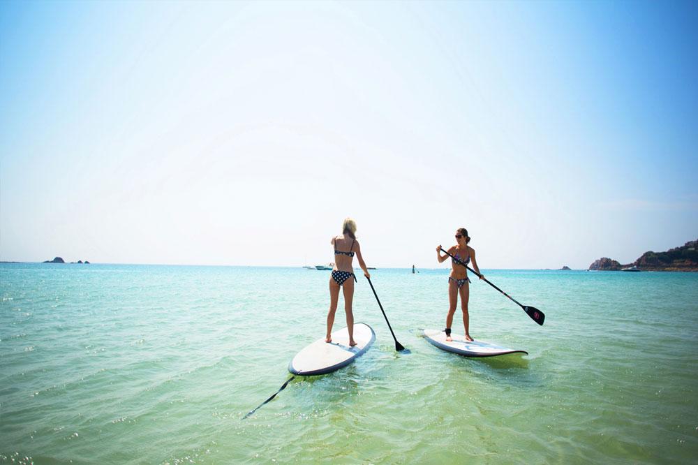 Relocate.je Jersey paddle boarding st brelades bay