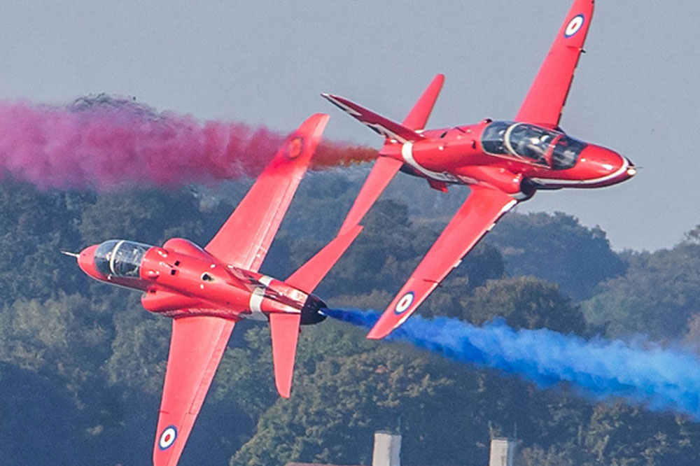 Jersey Air Display event red Arrows