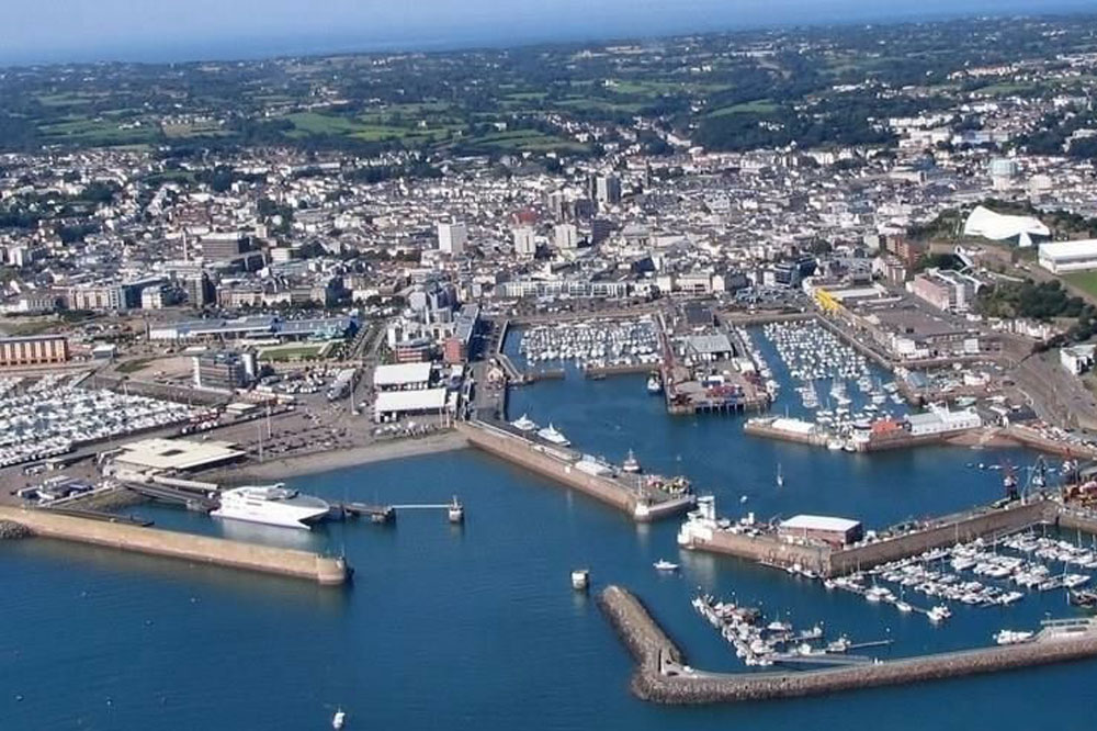 Aerial picture of St Helier Jersey